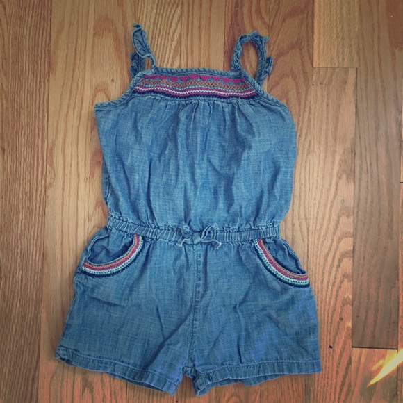 632f7f5db4d GAP Other - BabyGap chambray embroidered romper